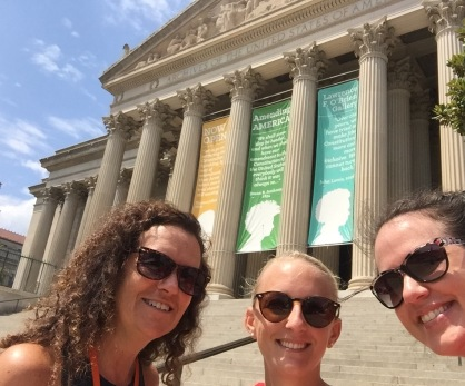 Admissions People in front of the National Archives!
