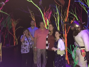 group at Meow Wolf
