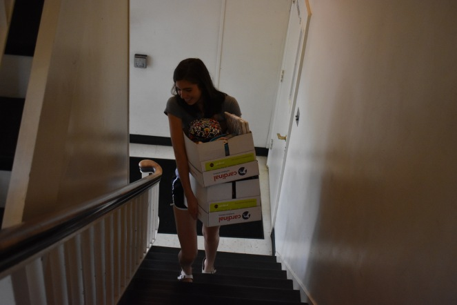 Students move into their new homes.