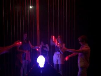 Meow wolf laser harp 2
